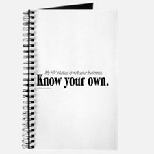KNOW YOUR OWN Journal