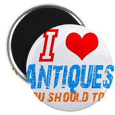 "i love Antiques 2.25"" Magnet (10 pack)"