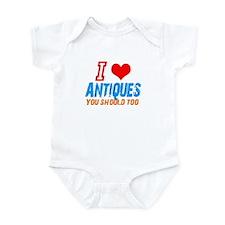 i love Antiques Infant Bodysuit