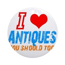 i love Antiques Ornament (Round)