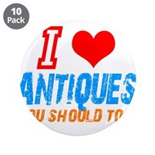 """i love Antiques 3.5"""" Button (10 pack)"""