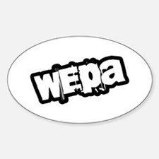 Wepa! Grunge Oval Decal