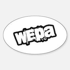 Wepa! Grunge Oval Decal