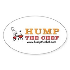 Hump The Chef Oval Decal