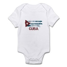 Cuba Grunge Flag Infant Bodysuit