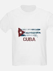 Cuba Grunge Flag T-Shirt