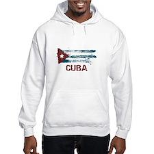 Cuba Grunge Flag Hoodie Sweatshirt