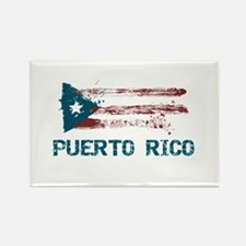 Puerto Rico Grunge Flag Rectangle Magnet