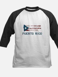 Puerto Rico Grunge Flag Tee