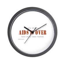 AIDS IS OVER Wall Clock