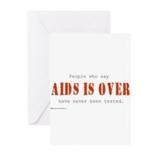 AIDS IS OVER Greeting Cards (Pk of 10)