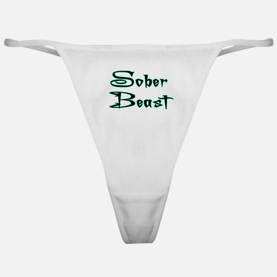 Sober Beast Blue Classic Thong