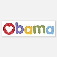 Obama Heart Bumper Bumper Bumper Sticker