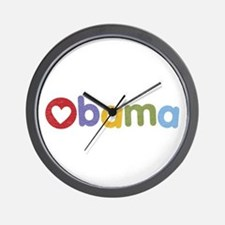 Obama Heart Wall Clock