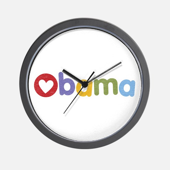 Obama Heart Wall Clock