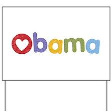 Obama Heart Yard Sign