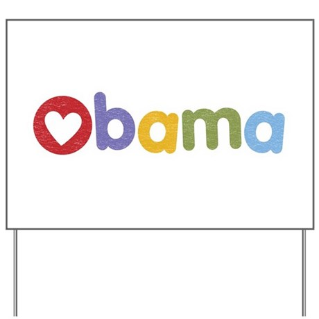 Obama Heart Yard Sign