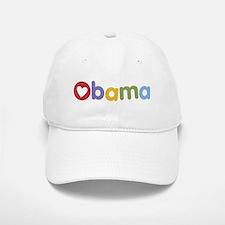 Obama Heart Baseball Baseball Cap