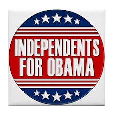 Independents For Obama Tile Coaster