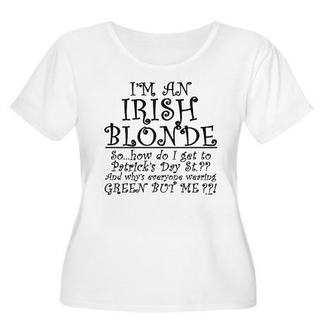 IRISH BLONDE Women's Plus Size Scoop Neck T-Shirt