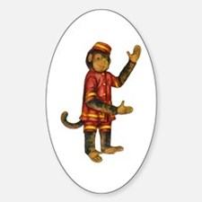CURIOUS MONKEY Oval Decal