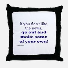 MAKE NEWS Throw Pillow