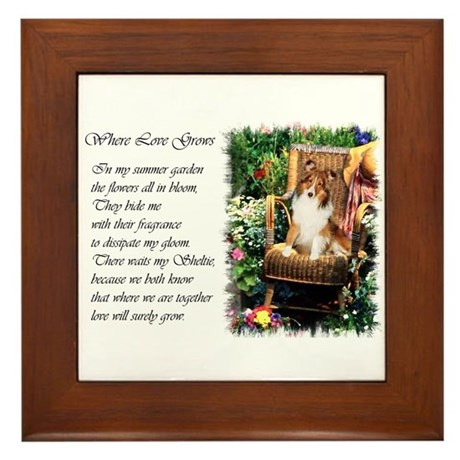 Sheltie Art Gifts Framed Tile