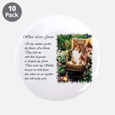"Sheltie Art Gifts 3.5"" Button (10 pack)"