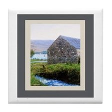 Stone House by River Tile Coaster