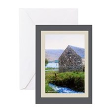 Stone House by River Greeting Card