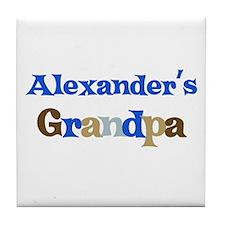 Alexander's Grandpa  Tile Coaster