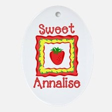Sweet Annalise Oval Ornament