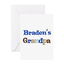 Braden's Grandpa Greeting Card