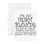 IRISH BLONDE Greeting Cards (Pk of 10)