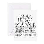 IRISH BLONDE Greeting Card
