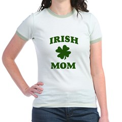 Irish Mom (Shamrock) Jr. Ringer T-Shirt