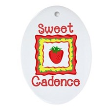 Sweet Cadence Oval Ornament