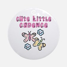 Cute Little Cadence Ornament (Round)