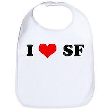 I Love S.F. Bib