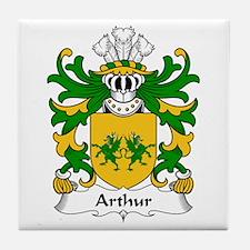 Arthur I (ab uthr pendragon-King Arthur) Tile Coas