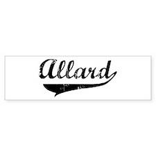 Allard (vintage) Bumper Bumper Sticker