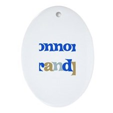 Connor's Grandpa  Oval Ornament