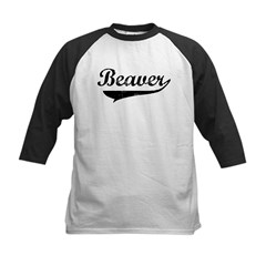 Beaver (vintage) Kids Baseball Jersey