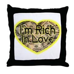 Rich In Love Throw Pillow