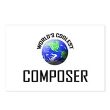 World's Coolest COMPOSER Postcards (Package of 8)