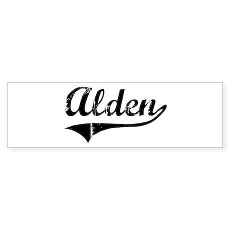 Alden (vintage) Bumper Sticker