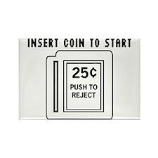 Insert Coin to Start Rectangle Magnet