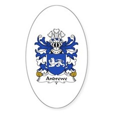 Andrewe (of Herefordshire) Oval Decal
