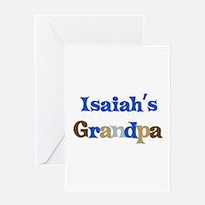 Isaiah's Grandpa Greeting Card