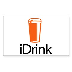 iDrink Rectangle Decal